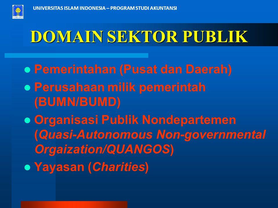 DOMAIN SEKTOR PUBLIK Pemerintahan (Pusat dan Daerah)
