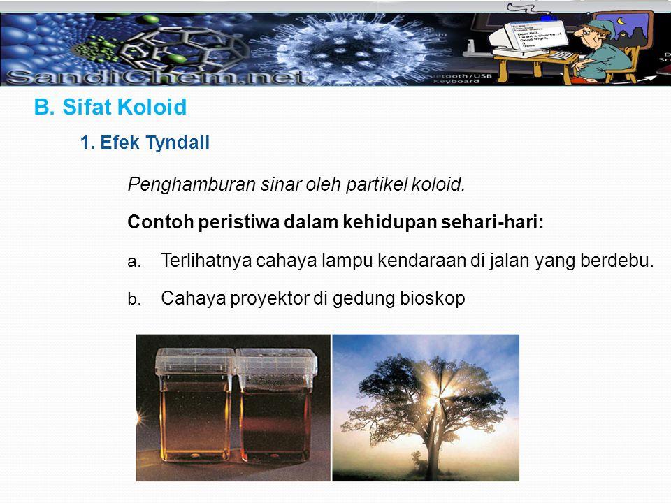 B. Sifat Koloid 1. Efek Tyndall