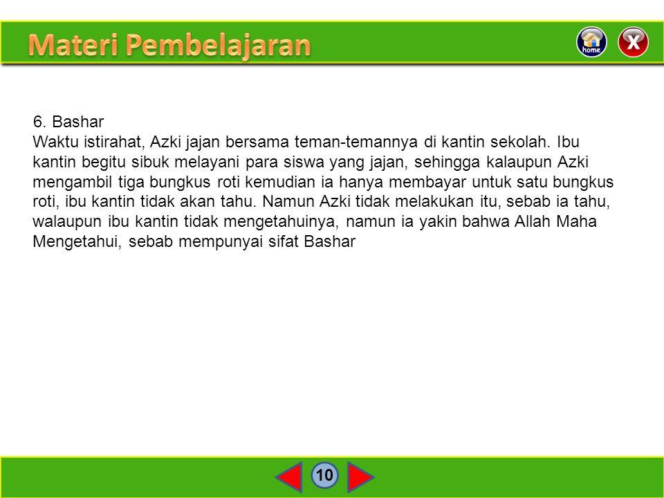 Materi Pembelajaran 6. Bashar