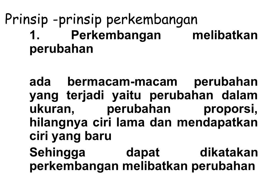 Prinsip -prinsip perkembangan