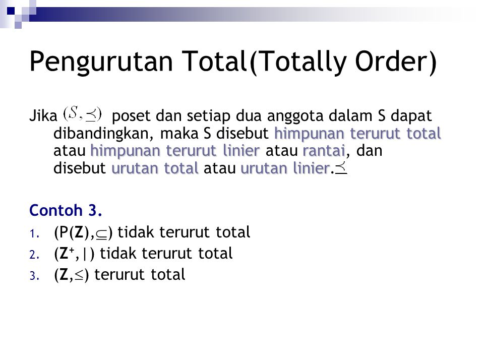 Pengurutan Total(Totally Order)
