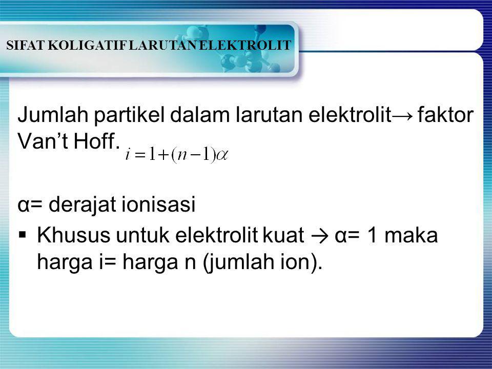 SIFAT KOLIGATIF LARUTAN ELEKTROLIT