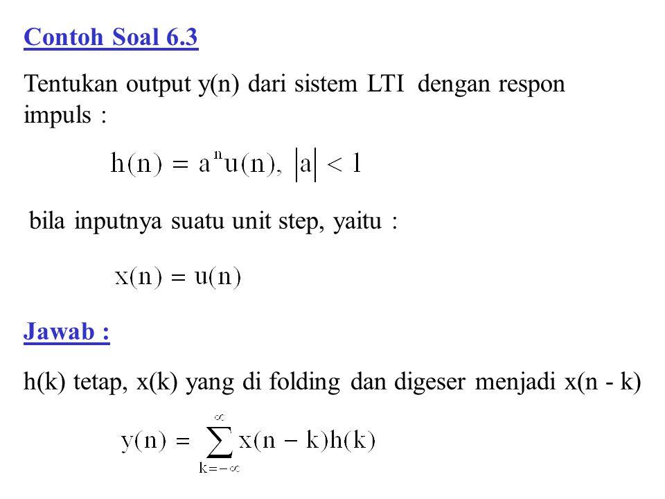 h(k) tetap, x(k) yang di folding dan digeser menjadi x(n - k)