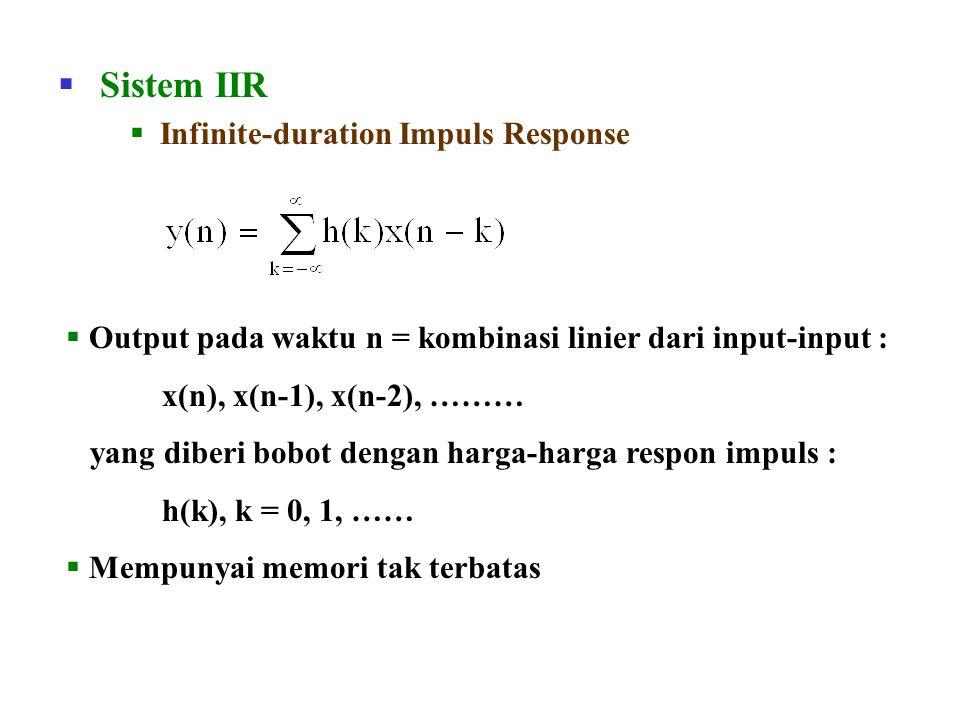 Sistem IIR Infinite-duration Impuls Response