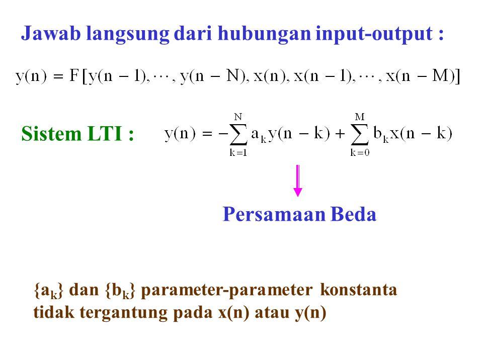 Jawab langsung dari hubungan input-output :