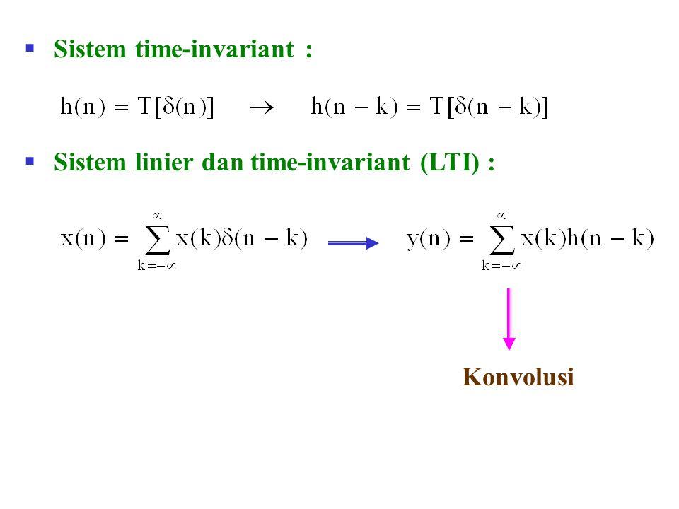 Sistem time-invariant :
