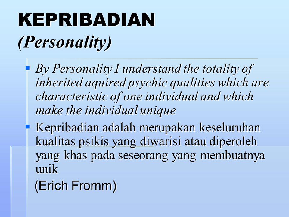 KEPRIBADIAN (Personality)