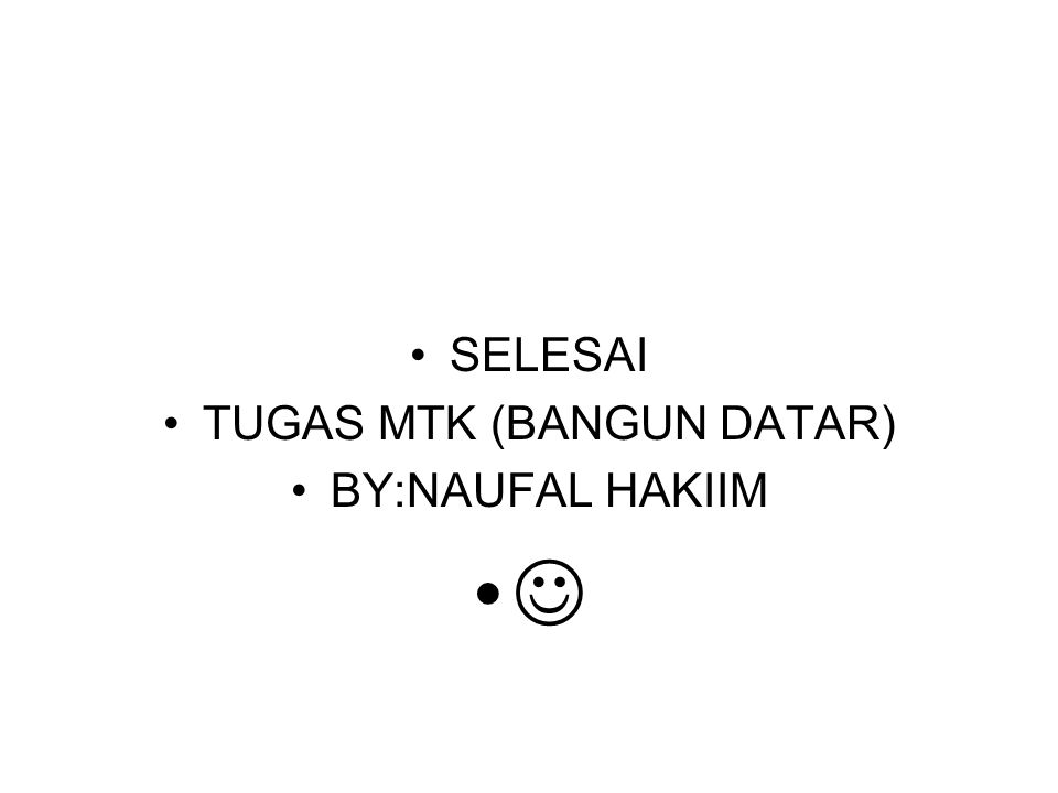 TUGAS MTK (BANGUN DATAR)