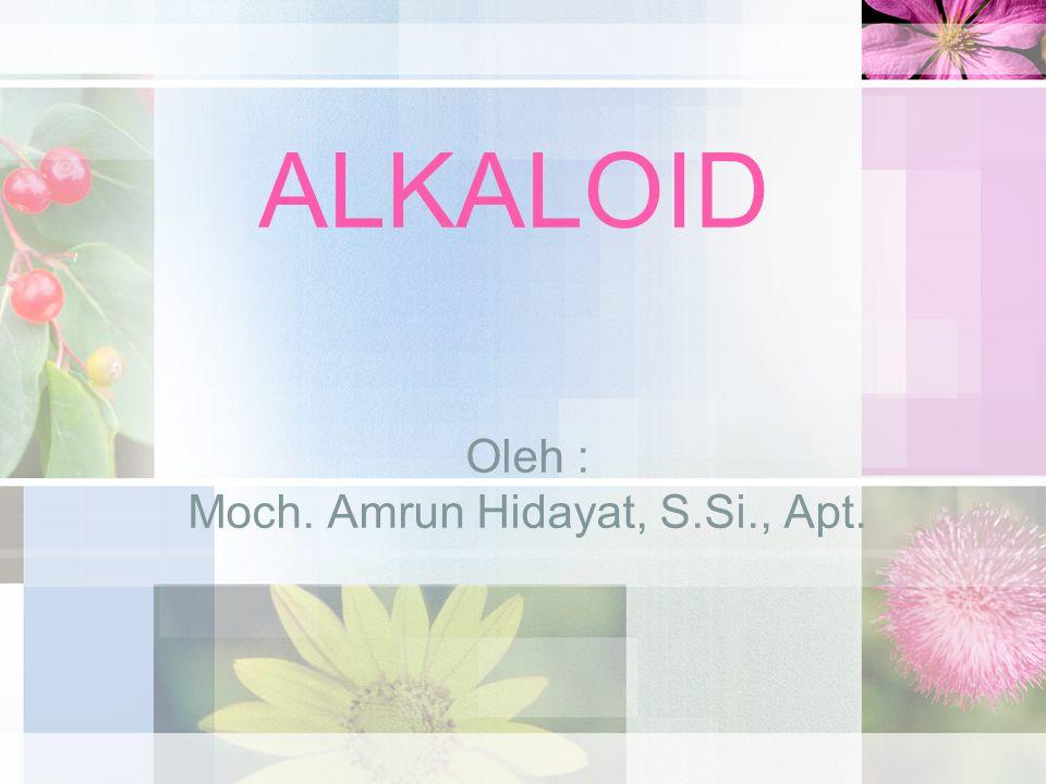 Oleh : Moch. Amrun Hidayat, S.Si., Apt.
