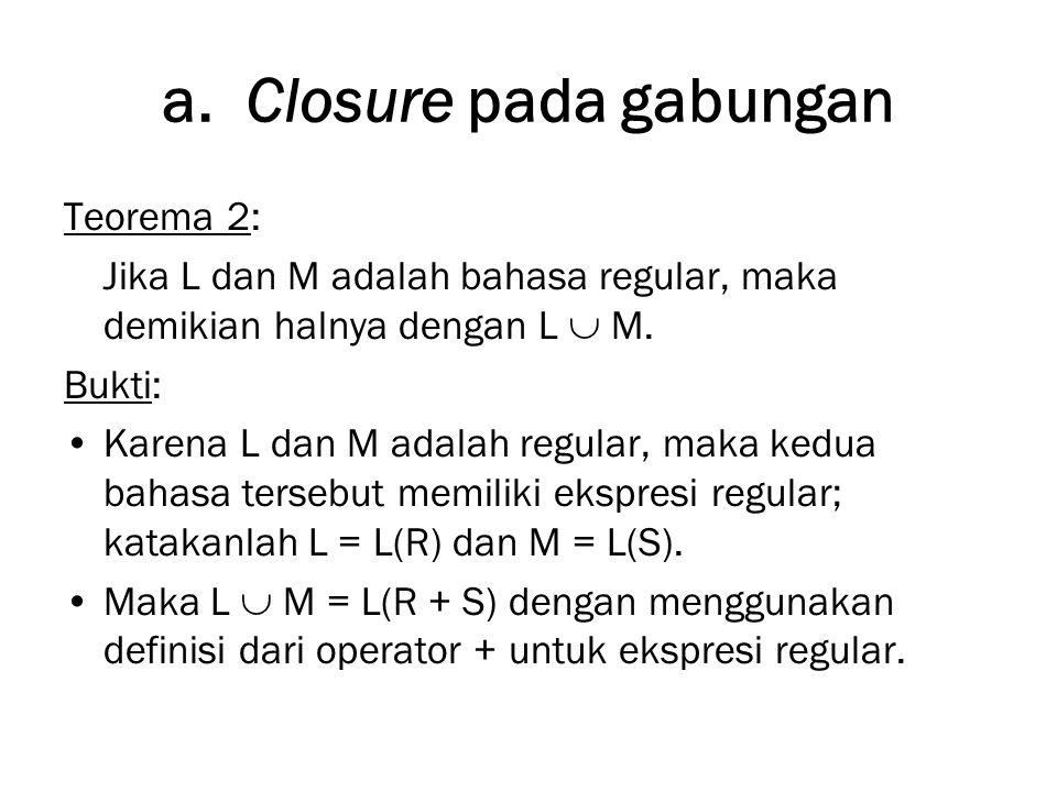 a. Closure pada gabungan