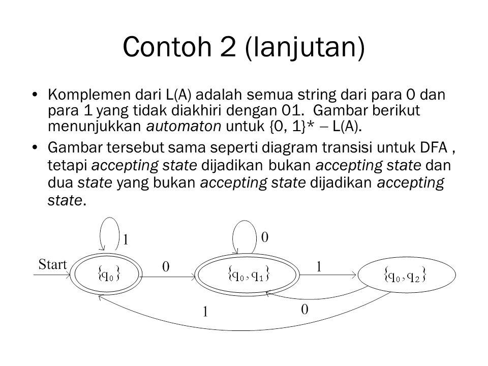 Contoh 2 (lanjutan)