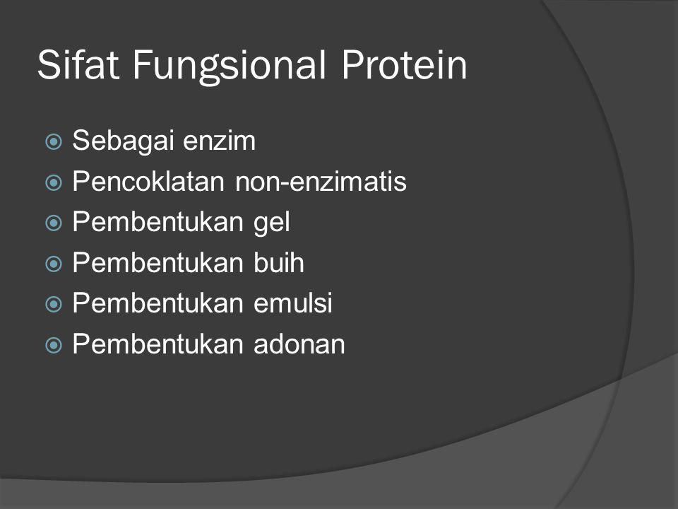 Sifat Fungsional Protein