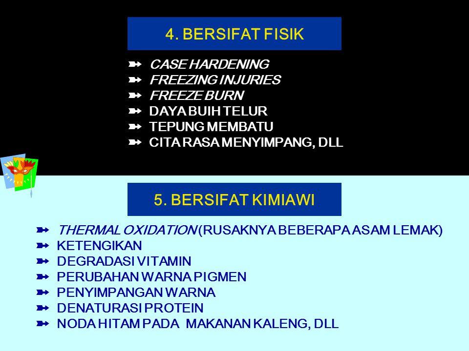 4. BERSIFAT FISIK 5. BERSIFAT KIMIAWI
