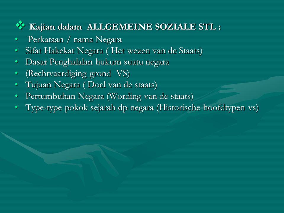 Kajian dalam ALLGEMEINE SOZIALE STL :