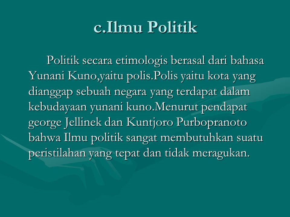 c.Ilmu Politik