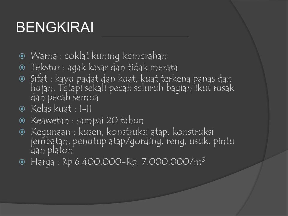 BENGKIRAI Warna : coklat kuning kemerahan