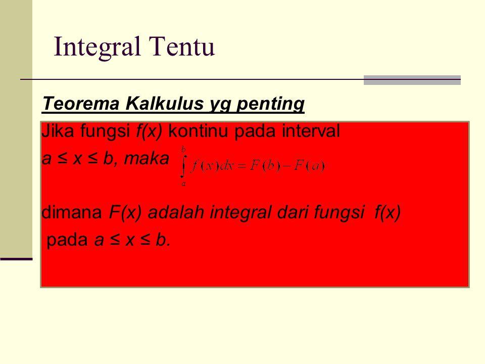 Integral Tentu