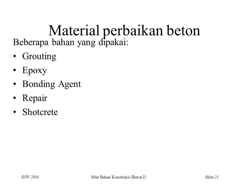 Material perbaikan beton