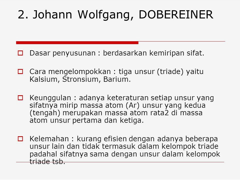 2. Johann Wolfgang, DOBEREINER