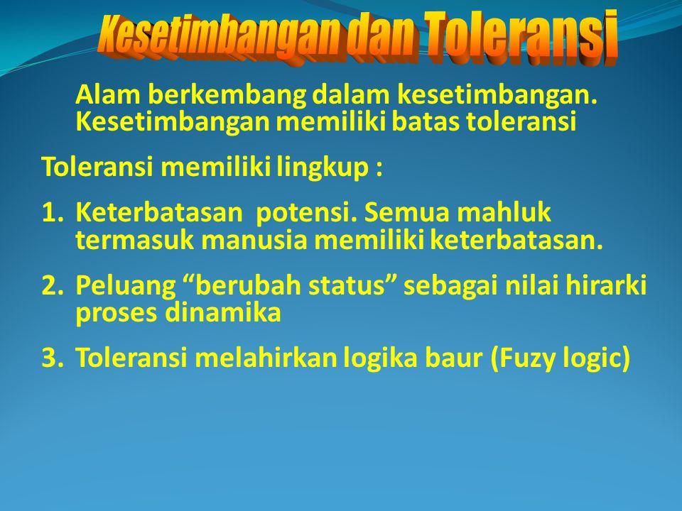 Kesetimbangan dan Toleransi
