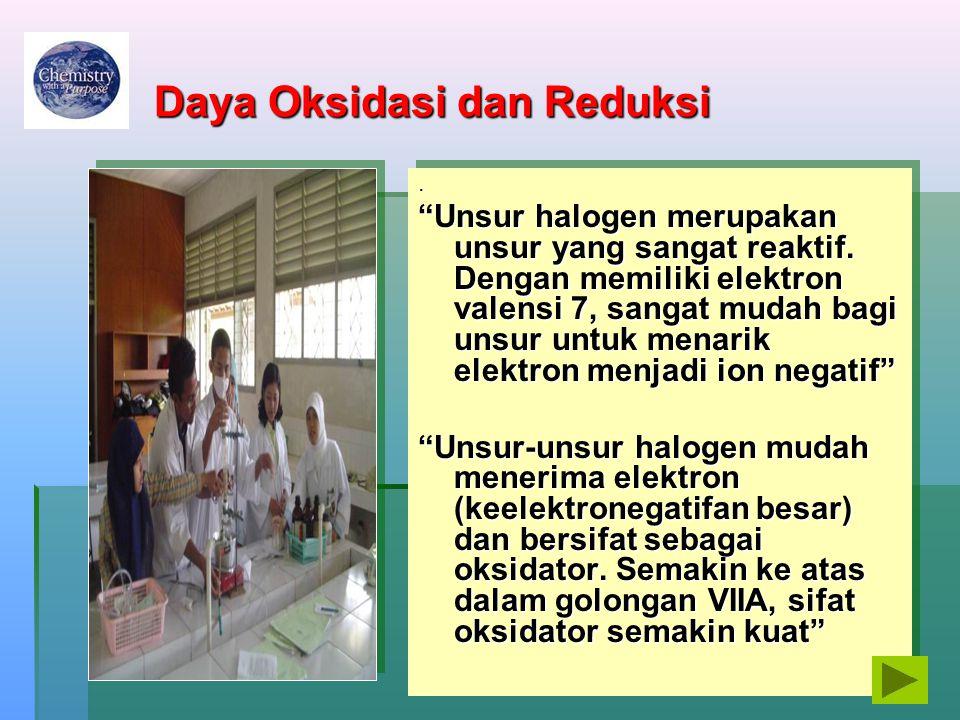 Daya Oksidasi dan Reduksi