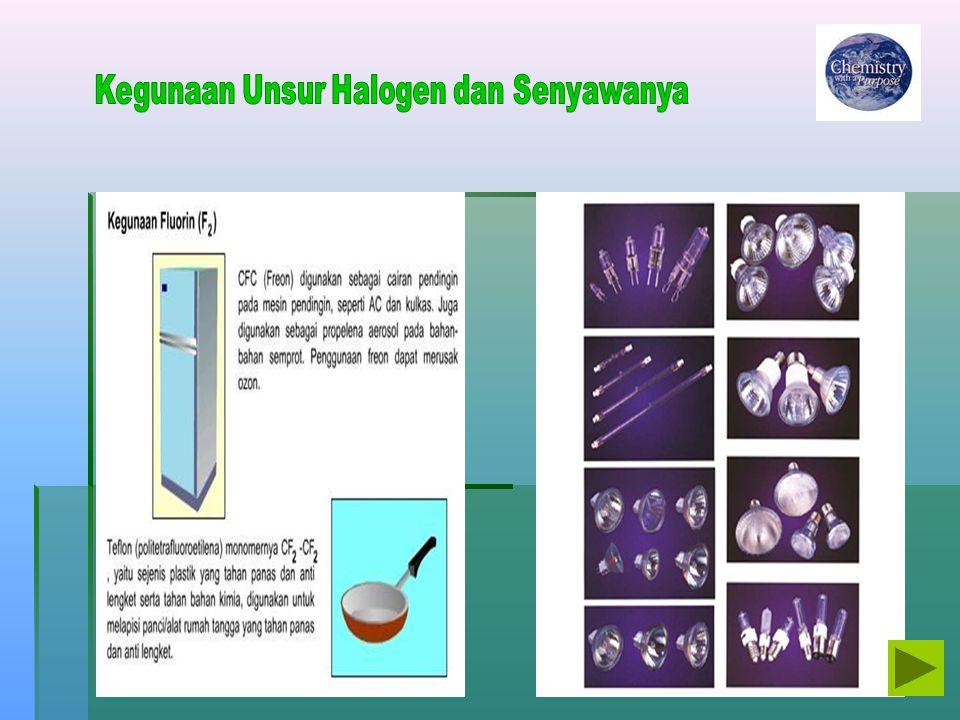 Kegunaan Unsur Halogen dan Senyawanya