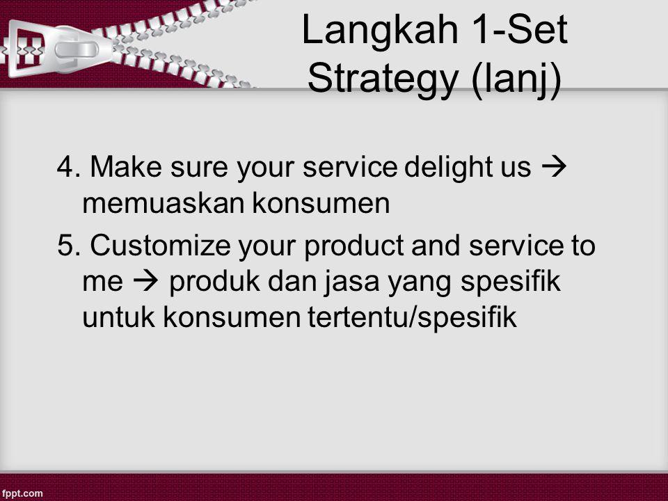 Langkah 1-Set Strategy (lanj)