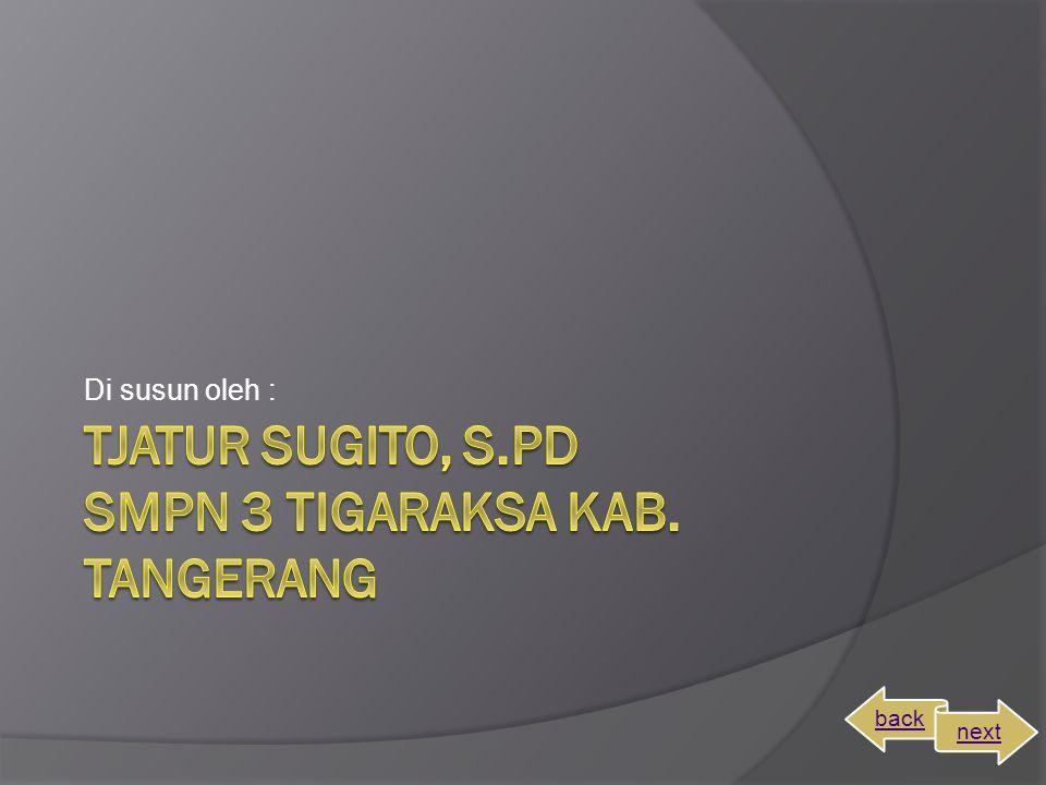 TJATUR SUGITO, S.PD SMPN 3 TIGARAKSA KAB. TANGERANG