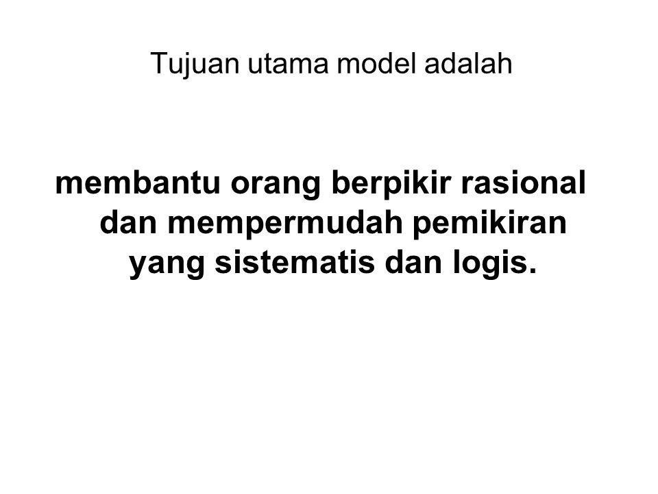 Tujuan utama model adalah