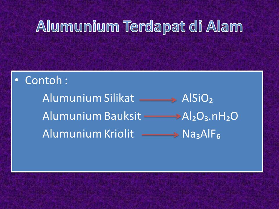 Alumunium Terdapat di Alam