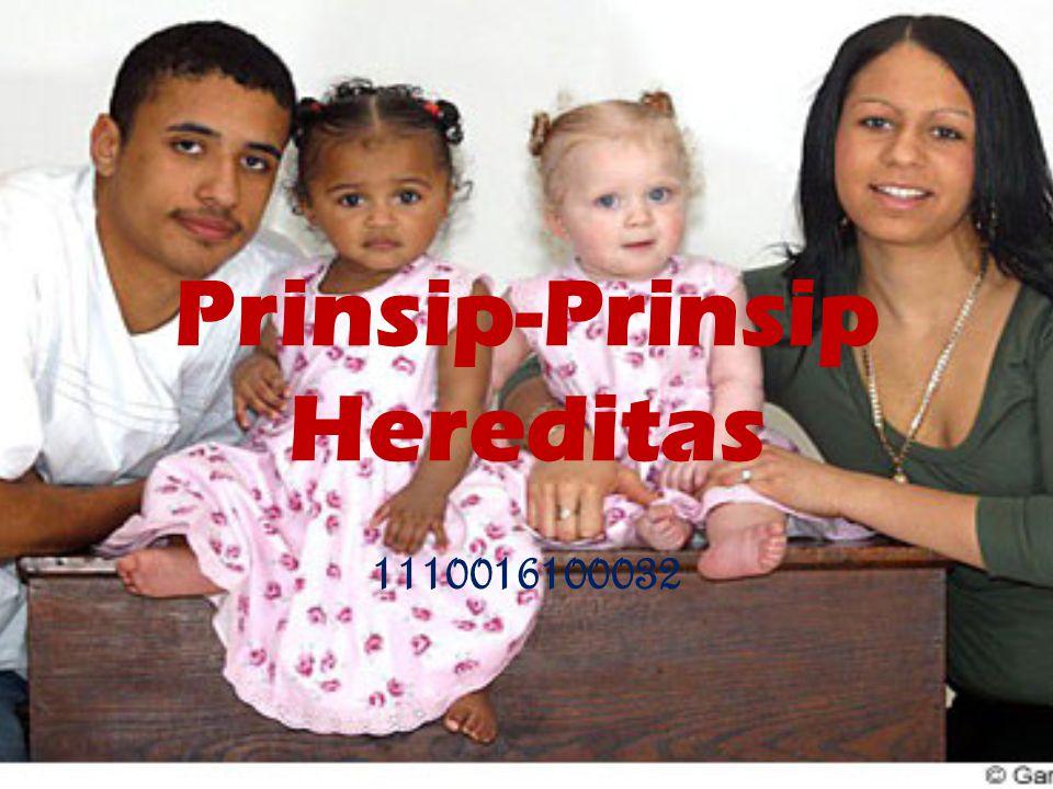 Prinsip-Prinsip Hereditas
