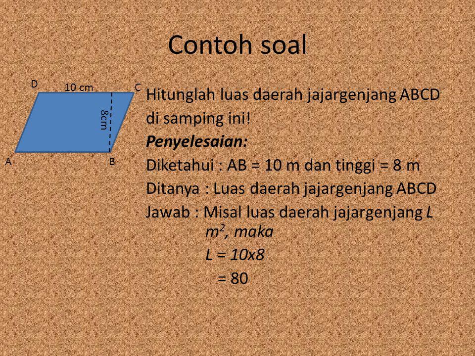Contoh soal D. 10 cm. C.