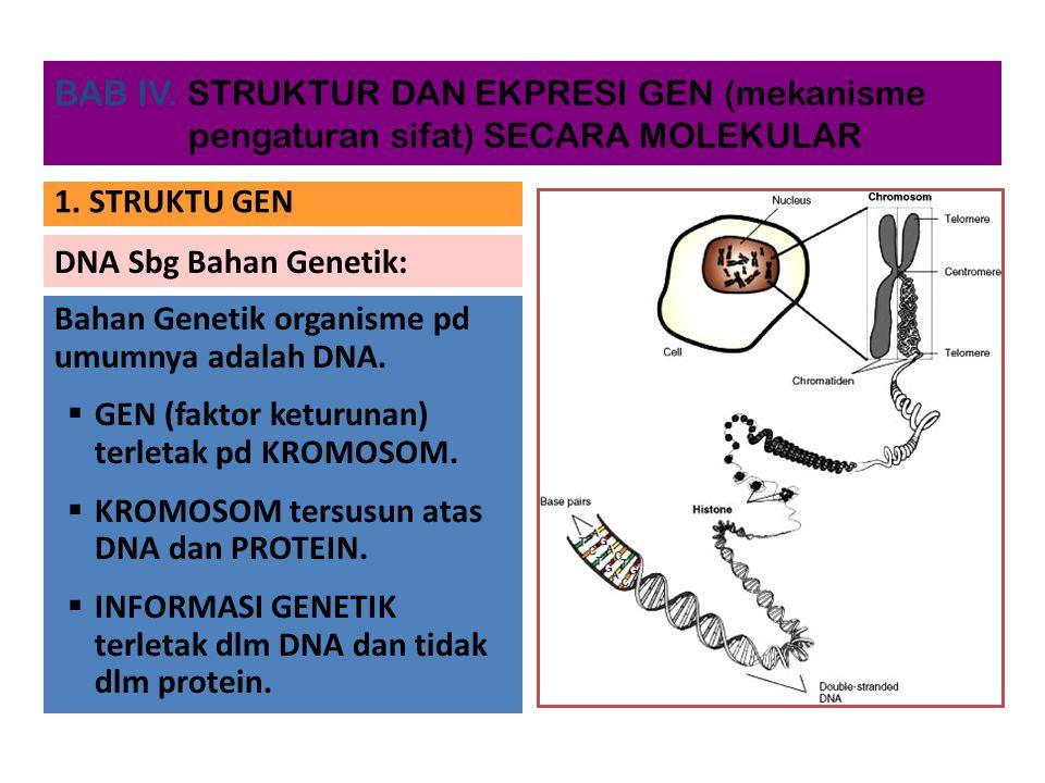 Bahan Genetik organisme pd umumnya adalah DNA.