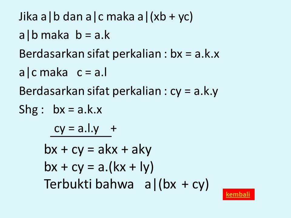 Terbukti bahwa a|(bx + cy)