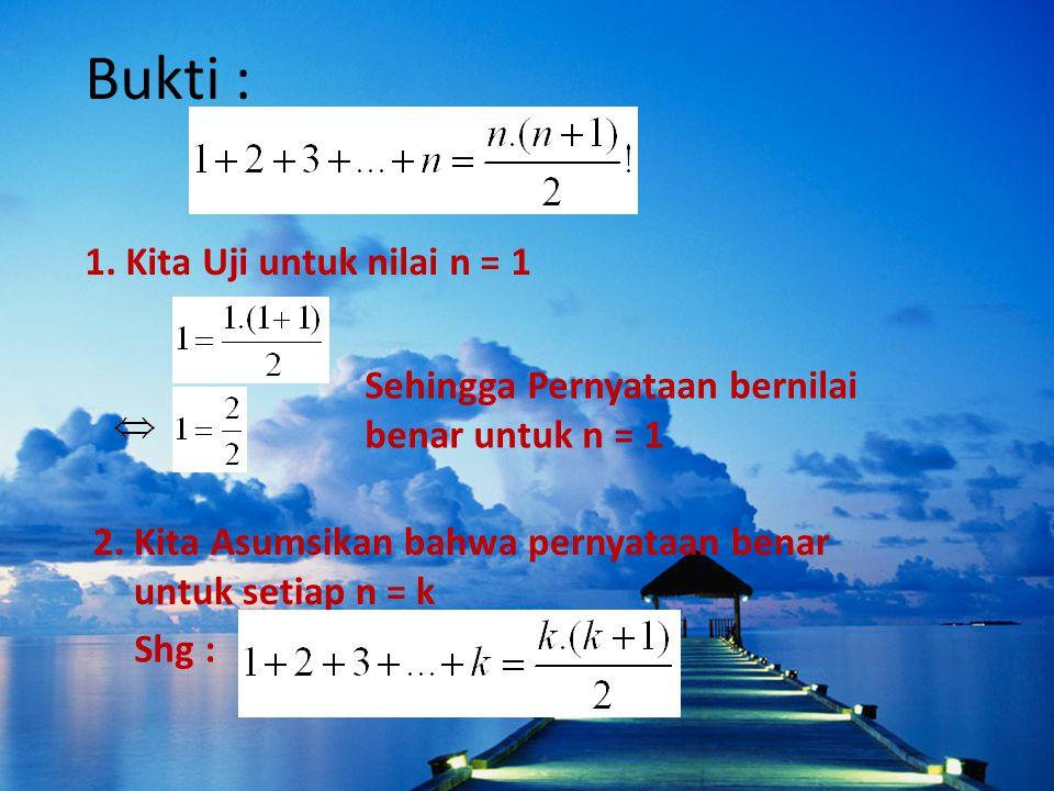 Bukti : 1. Kita Uji untuk nilai n = 1