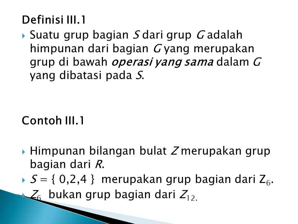 Definisi III.1