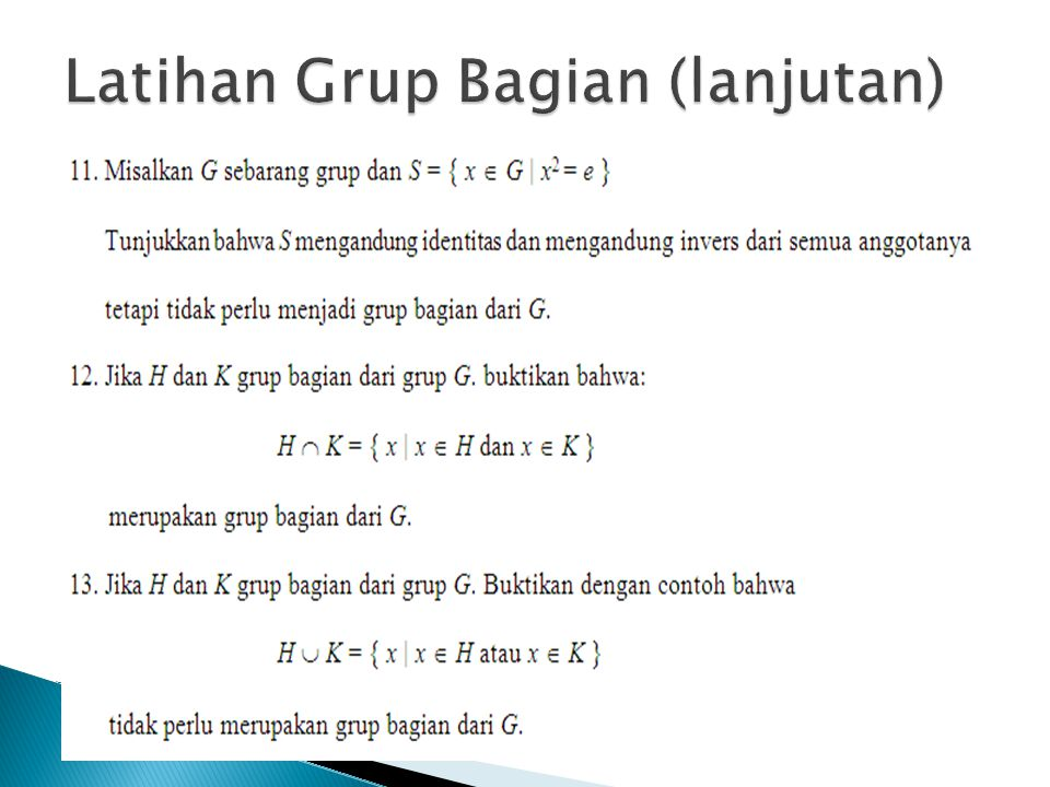 Latihan Grup Bagian (lanjutan)