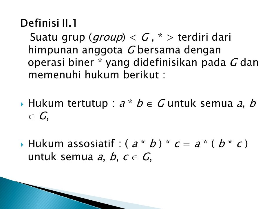 Definisi II.1