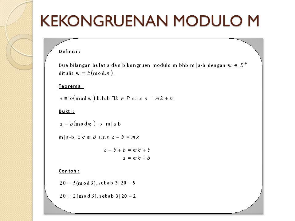 KEKONGRUENAN MODULO M