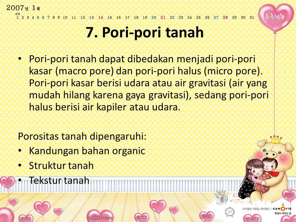 7. Pori-pori tanah