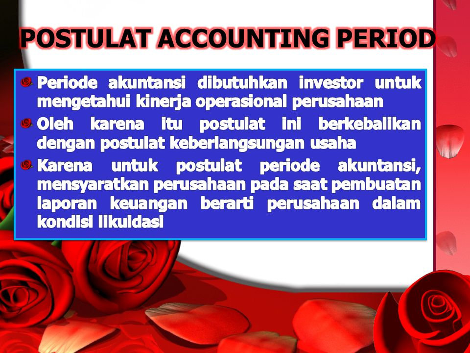 POSTULAT ACCOUNTING PERIOD