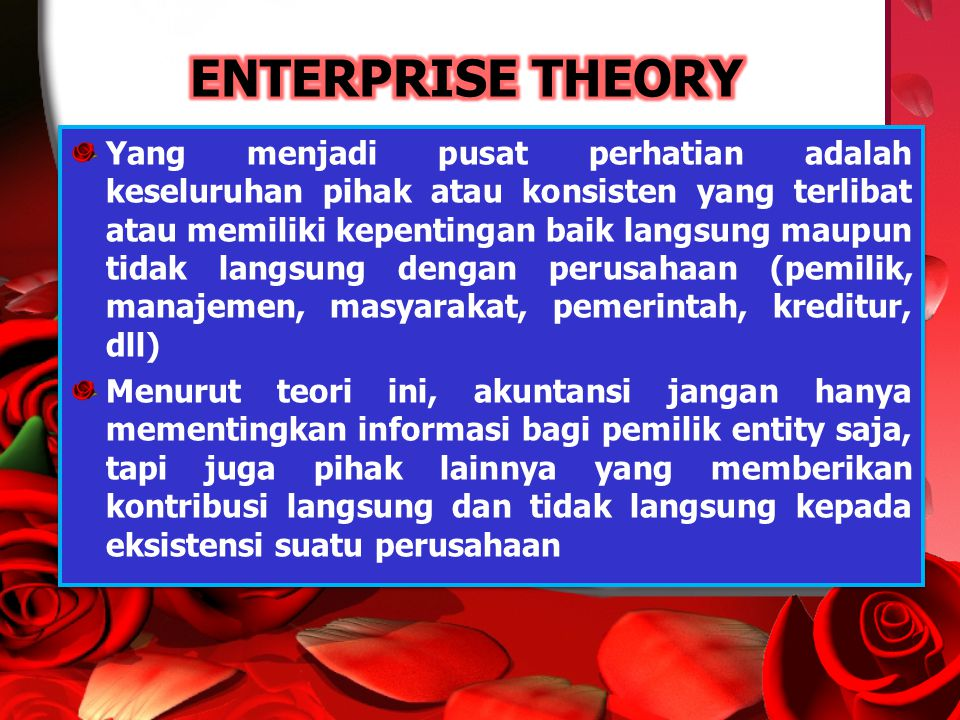ENTERPRISE THEORY