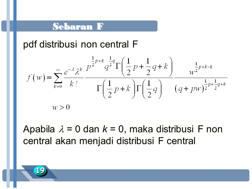 pdf distribusi non central F