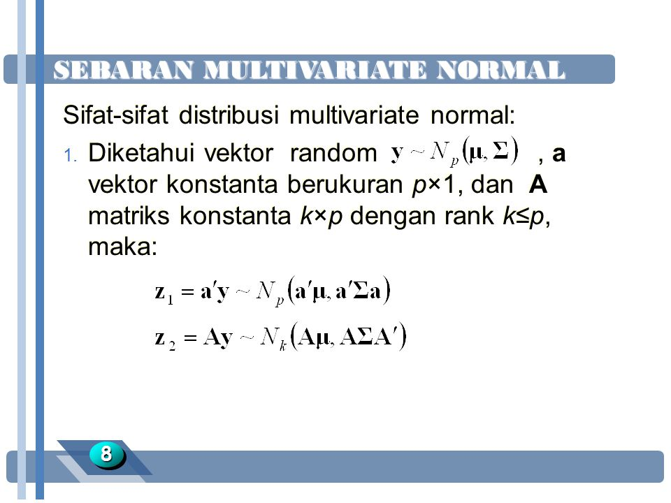 SEBARAN MULTIVARIATE NORMAL