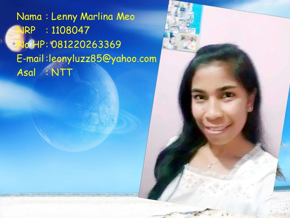 Nama : Lenny Marlina Meo