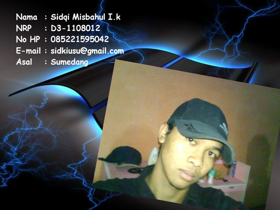 Nama : Sidqi Misbahul I.k