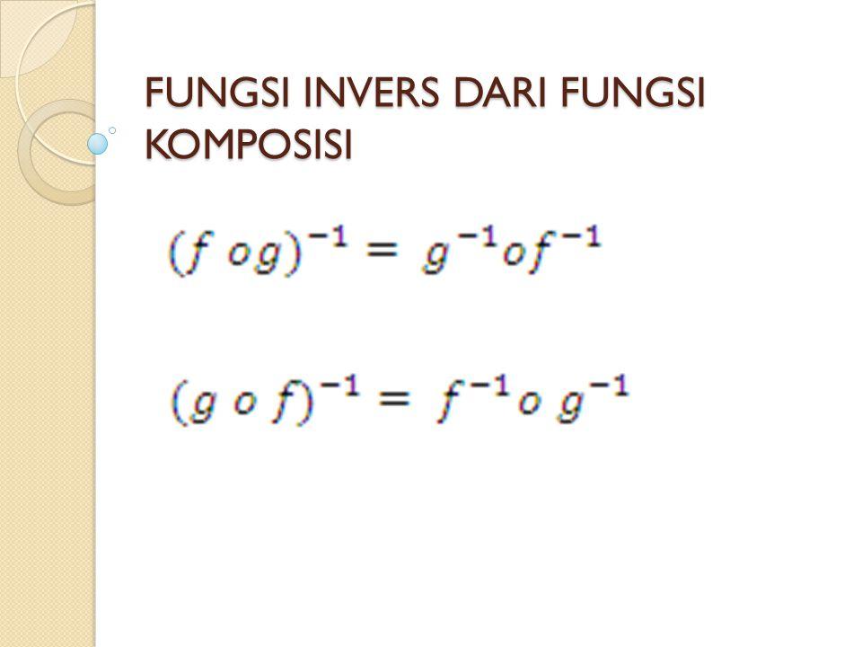 FUNGSI INVERS DARI FUNGSI KOMPOSISI