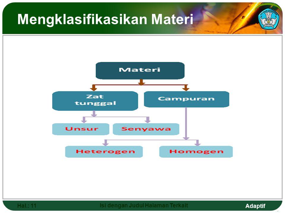 Mengklasifikasikan Materi
