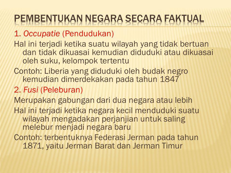 Pembentukan Negara Secara Faktual