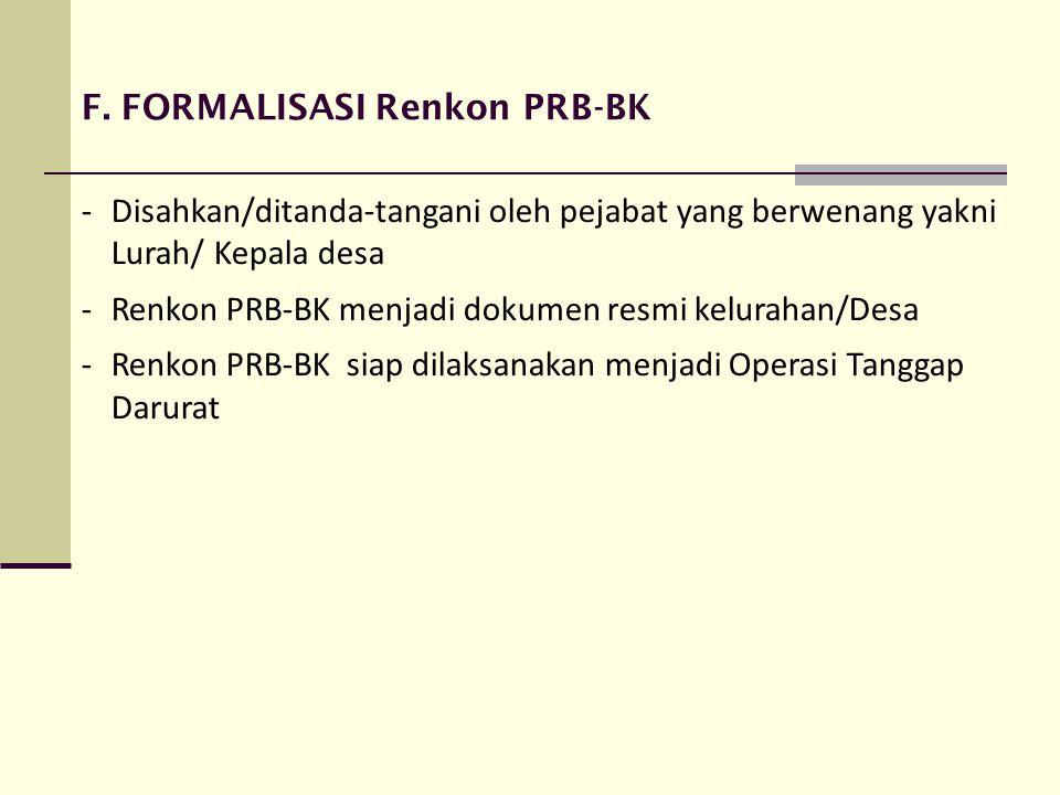 F. FORMALISASI Renkon PRB-BK